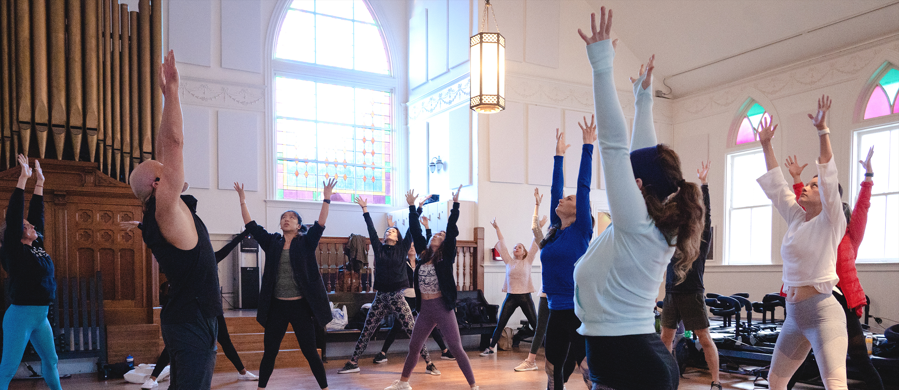 quantum flow fitness in a church