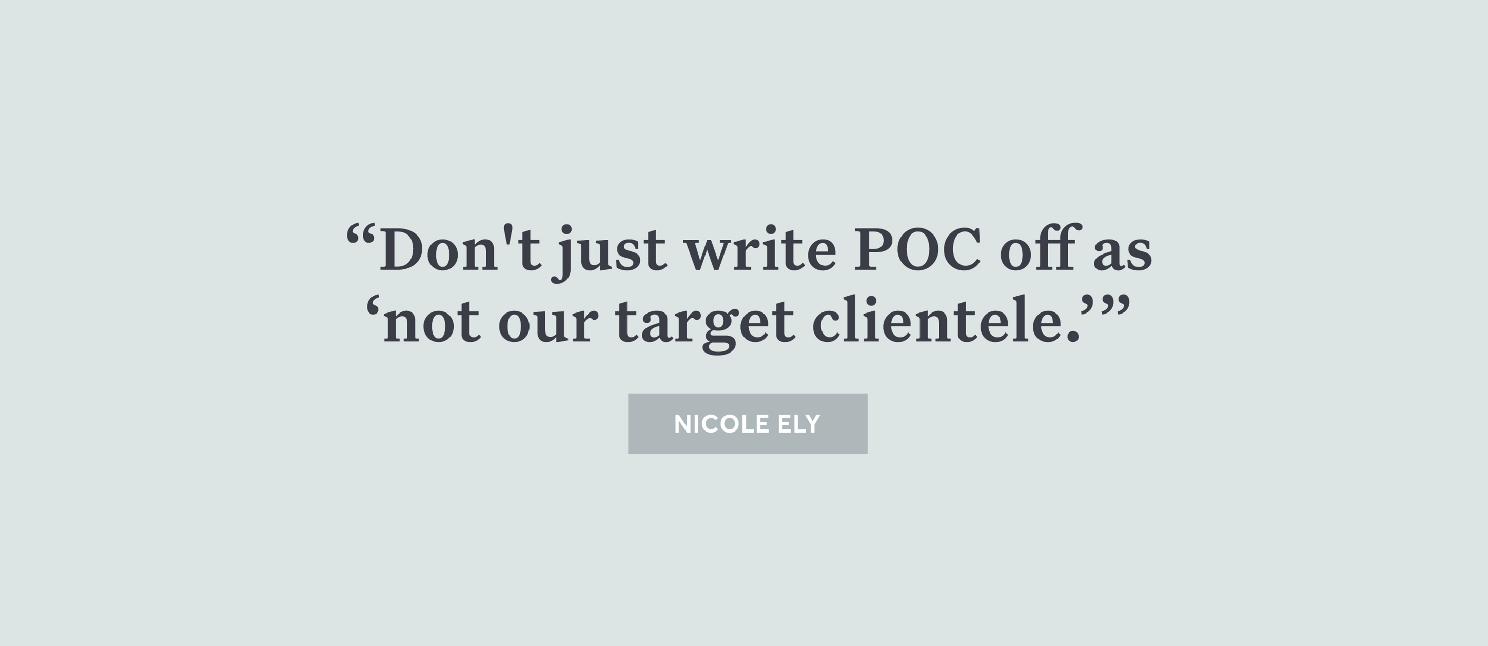 don't write POC off quote