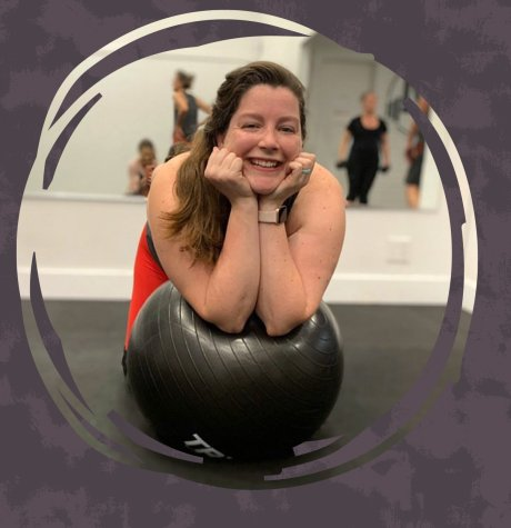 hiit instructor on medicine ball