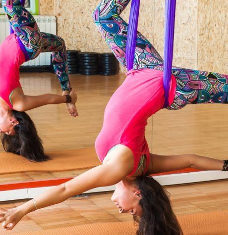 Get Your Practice Off the Ground with Aerial Yoga