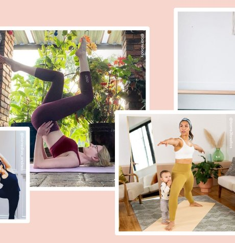 photos of people doing barre